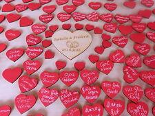 Hochzeitsherzen mit Namen, 50 Holzherz Hochzeitsspiel Holz Geburtstagsgeschenk
