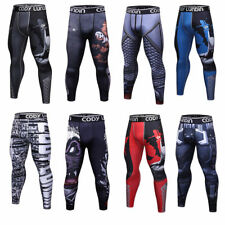 Mens Running Jogging Compression Tights  Dri fit Workout Long Pants Quick dry