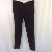 Hue Women's Cotton Leggings EDV Black Stretch U14635 Pull On Size M NWT Pants