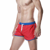 SEOBEAN Men's Shorts Running Swimwear casual summer beach sports shorts red