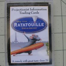 Disney Pixar Ratatouille Projectionist Movie Theater Promo Trading Cards Boxed