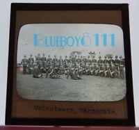 Military Harrogate Volunteers Battalion Glass Slide lantern Photograph