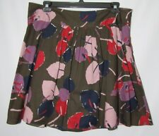 NWT Pleated Mossimo Cotton Floral Skirt Size 14