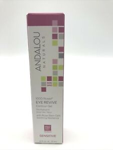 Andalou Naturals 1000 Roses Eye Revive Contour Gel, 0.6 Ounce NEW IN BOX