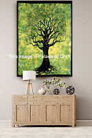Indian Dorm Decorative Tree of Life Wall Hanging Small Tapestry Boho Table Cloth