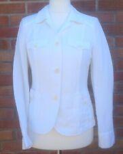 New Mayerline Brussels designer ladies white smart jacket blazer UK 10 linen mix