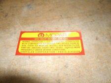1970 1971 PLYMOUTH CUDA 'CUDA 440 AIR CLEANER DECAL
