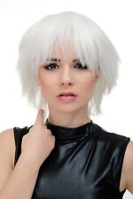 WIG ME UP Perruque pour Cosplay Femme Blanc Court Volumineux YZF-7067-1001