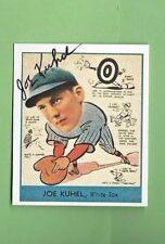 JOE KUHEL AUTOGRAPH Auto GOUDEY REPRINT SIGNED WHITE SOX HIT .321 IN 1933