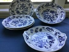 Vintage Blue Danube China 5 Pieces Bowls & Plates Early Banner Mark