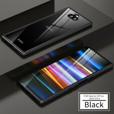 For Sony Xperia 10 Plus Metal Clear Back Glossy Luxury Protective Case Cover