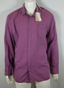 Tommy Bahama Men's Casual Shirt XXL  Dobby Dylan Solid Berry MSRP$125 NWT