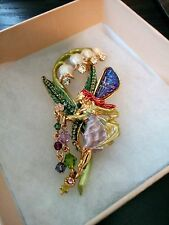 VERY RARE KIRKS FOLLY STUNNING LARGE LILY OF THE VALLEY FAIRY BROOCH/PIN