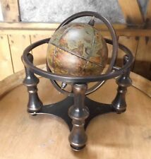 Globe with Stand Antique Nostalgia Colonial Style Globe Home Decor 31 High NEW
