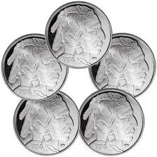 Lot of 5 - 2018 Highland Mint Buffalo Nickel Design 1 oz Silver Round SKU50336