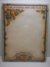 LISA BLOWERS Main Street Stationary Letter Pad 60 Sts 8.5 x 11 BOUQUETS KINDNESS