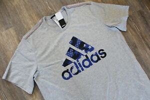 NWT ADIDAS Big & Tall Men's USA Athletic Shirt Gray Navy Blue Camouflage