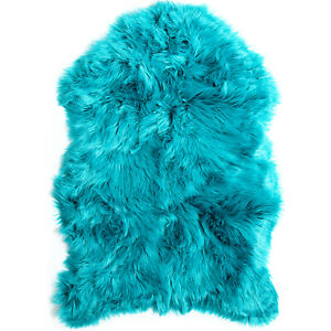 Faux Fur Sheepskin Rug Super Soft Plush Elegant Luxurious Throw Area Rug