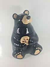 "Big Sky Carvers ""Bearfoots"" Bears, Black Bear Cookie Jar by Jeff Fleming"