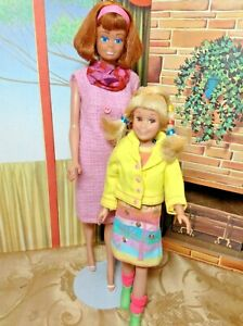 Vintage Mattel Midge and Skooter with Outfits