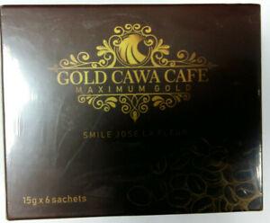 Gold Cawa Coffee - 6 saxhets of 15 grams each- Tumeric Root & Himalayan Teasel