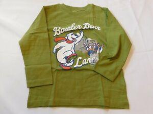 Osh Kosh B'Gosh Boy's Youth Long Sleeve T Shirt Size Variations Bowler Bear