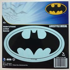 "DC Batman Bat Logo Emblem Black Car Window Sticker Decal 5"" Officially Licensed"