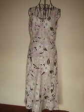 A LOVELY STYLISH MONSOON LONG TALL DRESS WITH FLORAL PATTERN   SIZE 12
