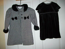 Youngland Girls Toddler Size 4T White & Black 2 Piece Easter Dress & Jacket Set