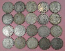 ROLL OF TWENTY (20) CIRCULATED 1921-S MORGAN SILVER DOLLARS