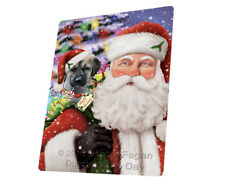 Saint Nick Santa Anatolian Shepherds Dog Tempered Cutting Board Large Db811