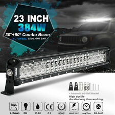 "23""INCH 384W CREE LED WORK LIGHT BAR SPOT FLOOD BEAM CAR OFFROAD DRIVING 22"" 24"""