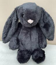 RARE Jellycat Medium Bashful Treacle Bunny BAS3BT Retired With Tags Black