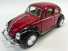 "New 5"" Kinsmart 1967 VW Volkswagen Beetle 2 Tone Diecast Model Toy 1:32 Red"