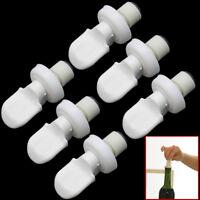 6pcs Set Vacuum Sealed Plastic Beer Soda Wine Storage Bottle Cap Stopper White