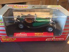 Majorette Bugatti 55 Green/Black 1/24 Scale Model Car 4105 Free UK Postage