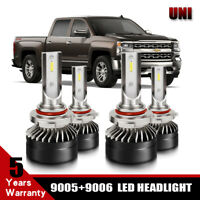 2Set 9005 9006 Combo LED Headlight Bulb Hi/Low Beam Kits 6000K For Chevrolet S10