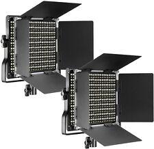 Neewer 2 Packs Professional Metal Bi-color LED Video Light for Studio, YouTube,