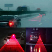 4x Laser Caution Light Anti-Collision Car End Rear Tail Fog Driving Cool QZS