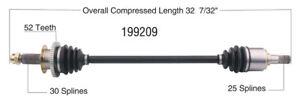 New CV Shaft 199209 Worldparts CV Axles