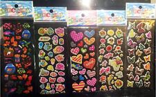 Fish Stikcers Lot -Kids Favor 3D Cartoon Pvc Stickers Butterfly 5 Sheets Gifts