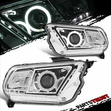 [CCFL Halo] 2010-2013 Ford Mustang Projector Chrome Headlights Pair Head Lamps