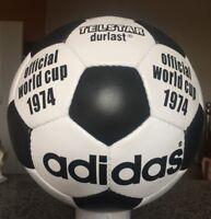 New Adidas World Cup 1974 -Soccerball Size 5 Football-Genuine Leather - telstar