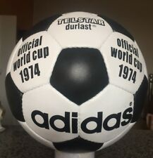 New Adidas World Cup 1974 -Soccerball Size 5 Football-Genuine Leather - telstar