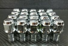 24 LUG NUTS ET CHROME BULGE ACORN 14X2.0 FOR FORD NAVIGATOR F-150 EXPEDITION