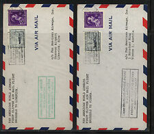 Belgium 2 Pan American flight covers to Vienna & Ireland 1946    MS1212
