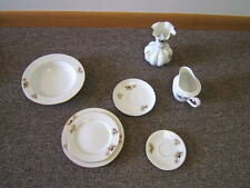 "Vintage Fukagawa ""Arita"" Porcelain Dinnerware 42 Pieces gold rims VGC"