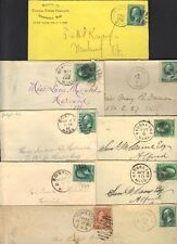 U.S. 1880's COLL OF 9 TOWN COVERS WORCHESTER, WATERVILLE, WESTVALE, SPRINGFIELD,