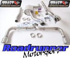 "Milltek Golf GTI MK6 Exhaust Turbo Back 3"" Inc De Cat Downpipe Non Res Rear"