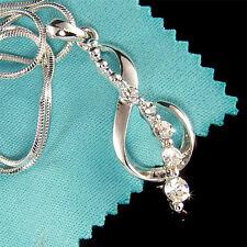 w Swarovski Crystal TREBLE g CLEF music Musical NOTE Pendant Charm Necklace Xmas